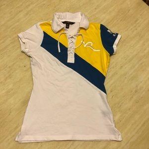 New Rocawear Colour Block 99 Logo Polo T-shirt S/M